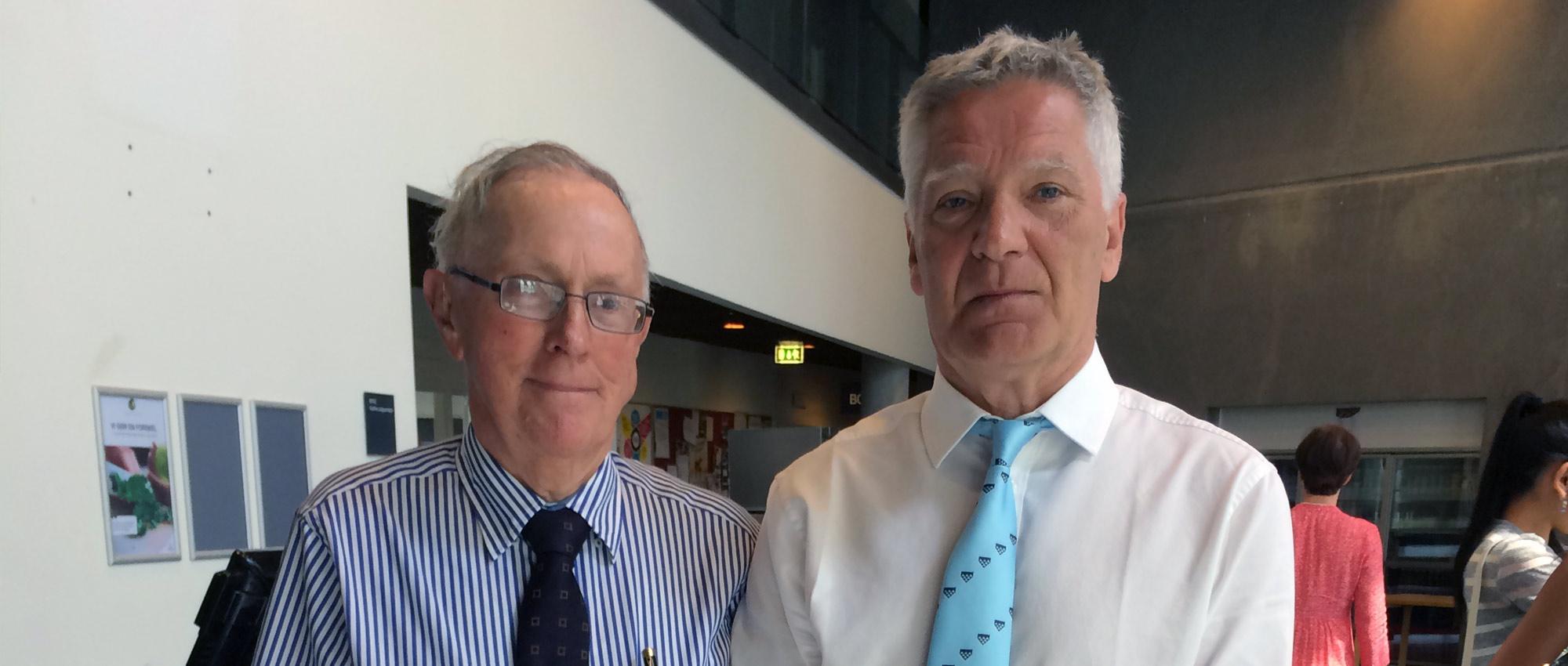 Brian Mulligan och Morgan Andersson